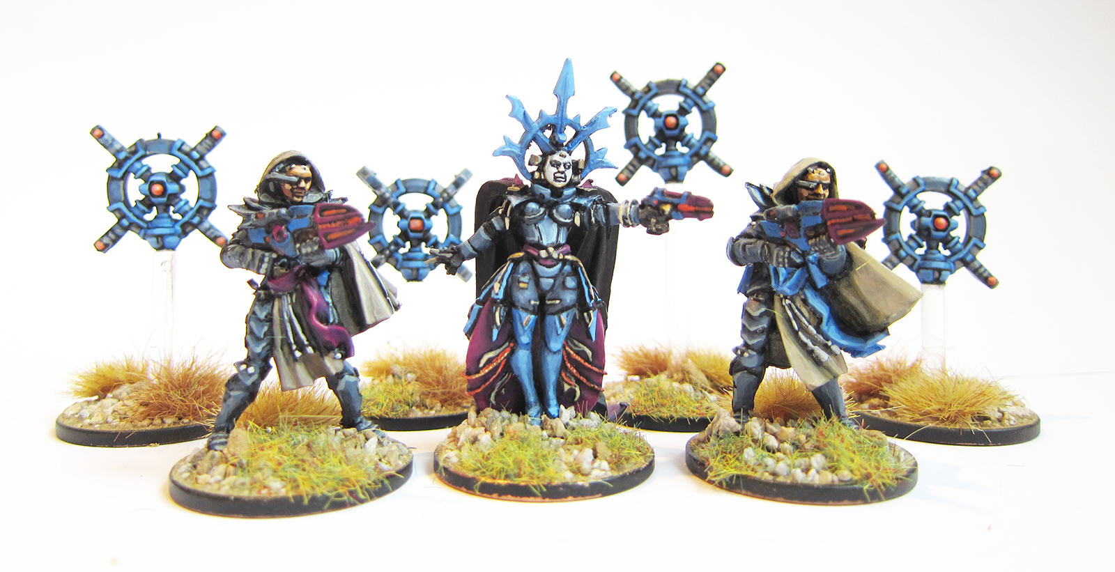 Freeborn Command Squad and Targeter Drones